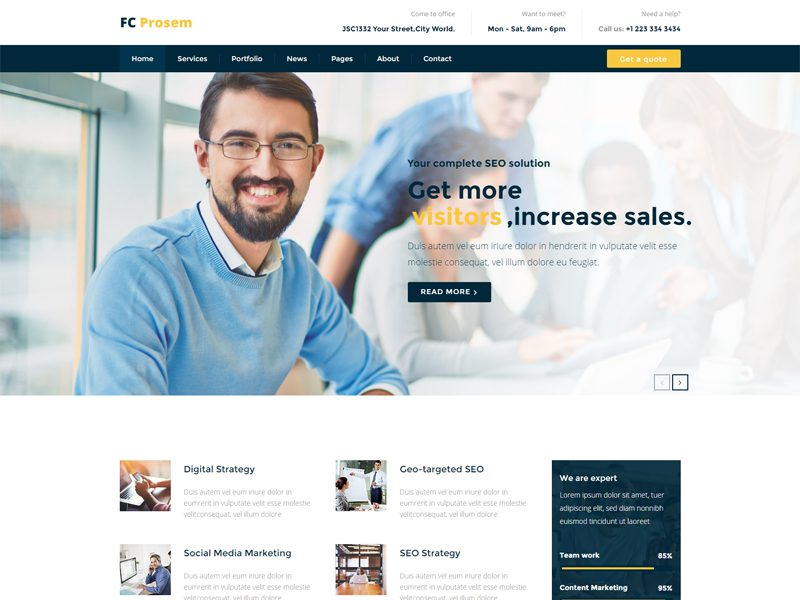 SEO Company Website Template