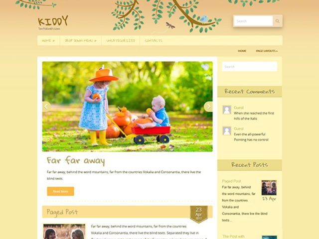 Free Kindergarten WordPress Theme