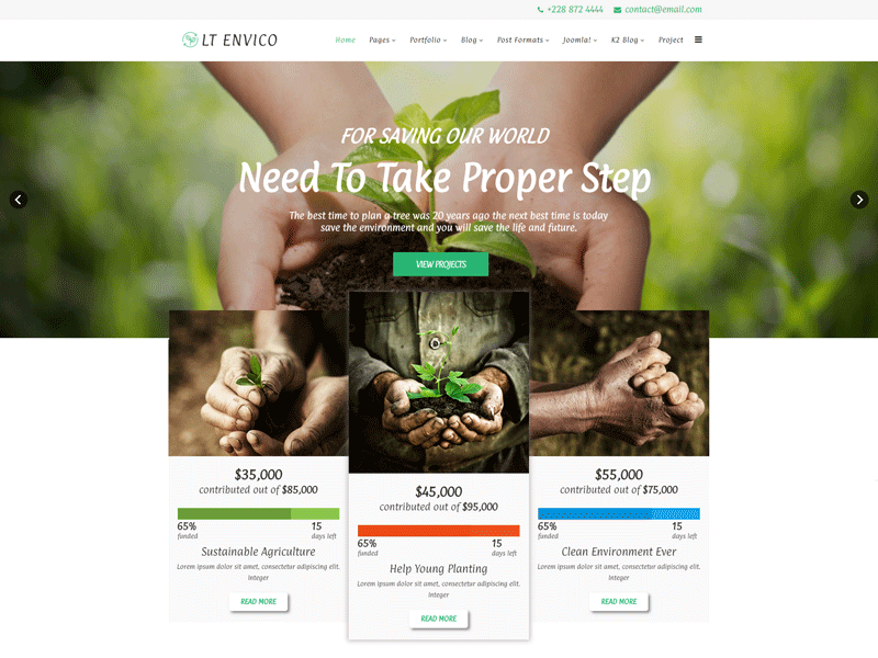 Joomla Nature Template