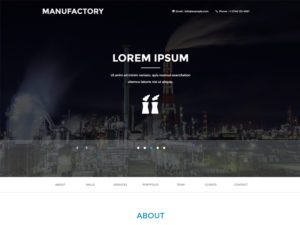 Free Industrial Bootstrap Template