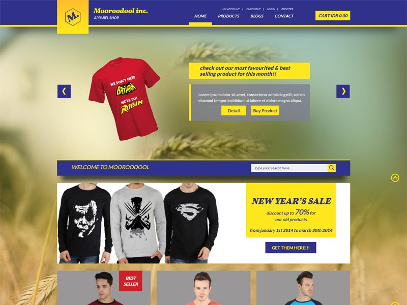 Free eCommerce Bootstrap Template