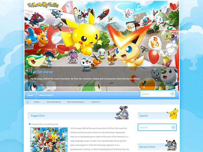 Free WordPress Game Theme