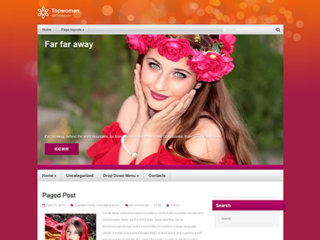 Free Beauty WordPress Theme