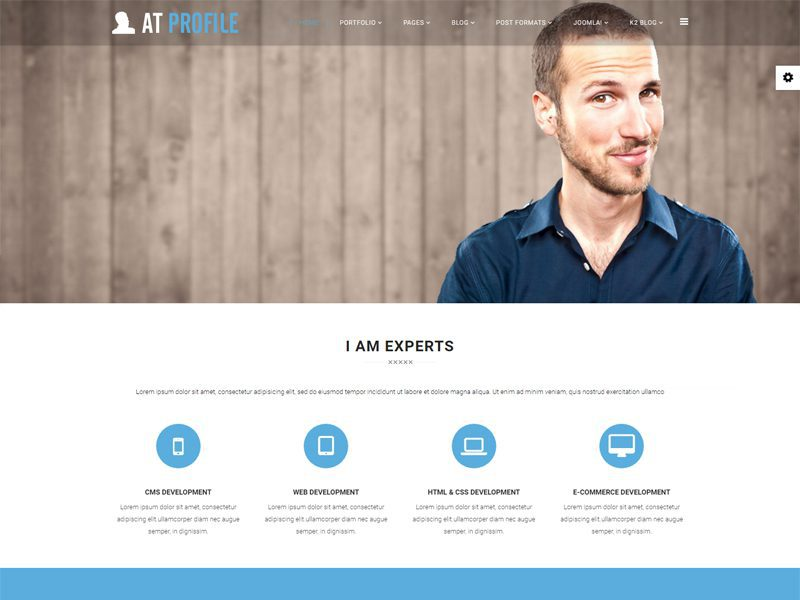 AT Profile Free Joomla CV Resume Template
