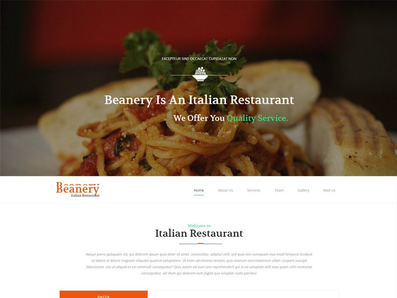 Free Restaurant Bootstrap Template