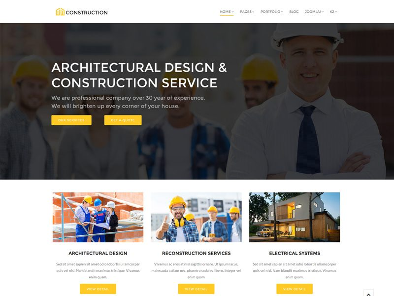Free Joomla Construction Template