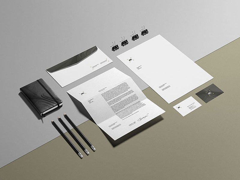 Corporate Stationery Free Mockup