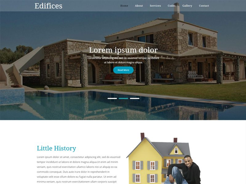 Free Bootstrap Real Estate Template