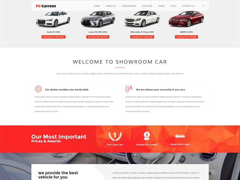 Bootstrap Car Template