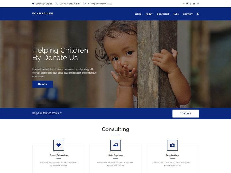 Free Charity Website Template