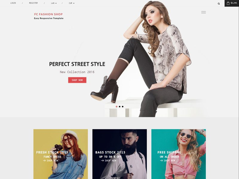 FC Fashion Shop - Bootstrap Fashion Template