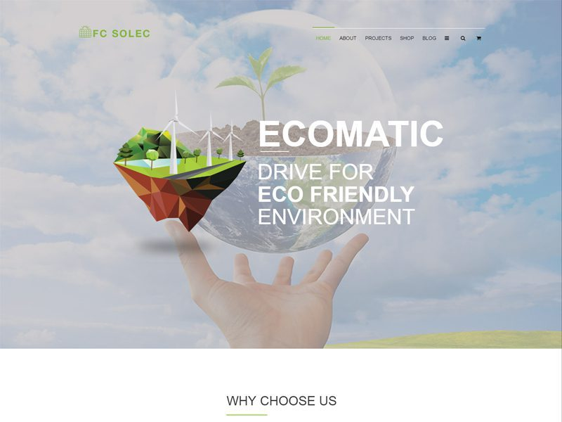 Free Solar Website Template
