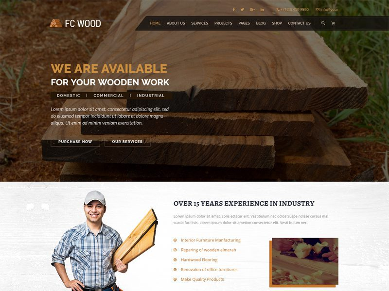 Free Carpentry Website Template