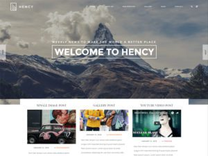 Hency Free Portfolio Bootstrap Template