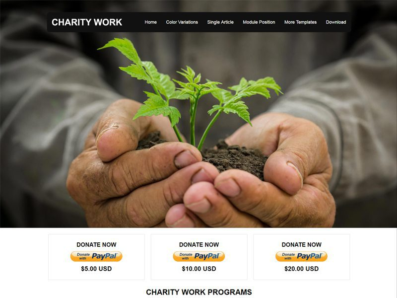 JSR Charity Work Free Charities Joomla Template