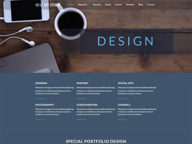 Creative Design WordPress Theme