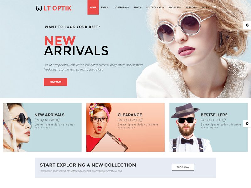 LT Optik Free Virtuemart Joomla template