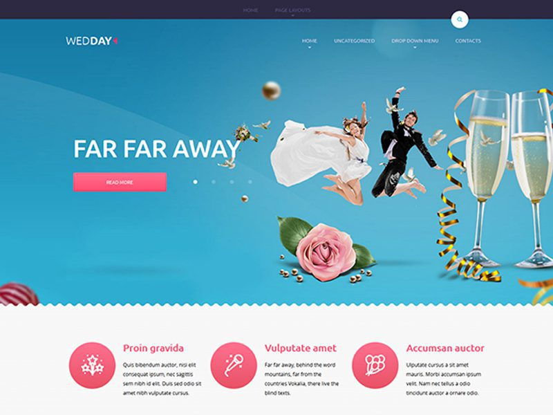 Wedday Free WordPress Wedding Theme