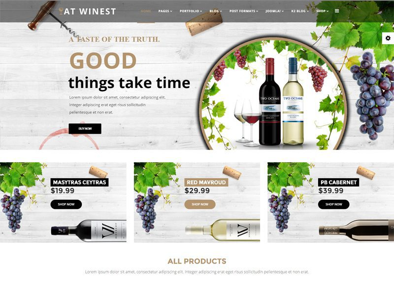 AT Winest Joomla Wine Template