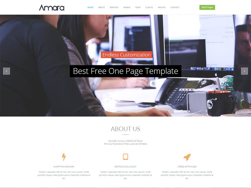 WT Amara Free WordPress Corporate Theme