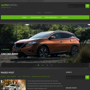 AutoPortal Free Blog WordPress Theme