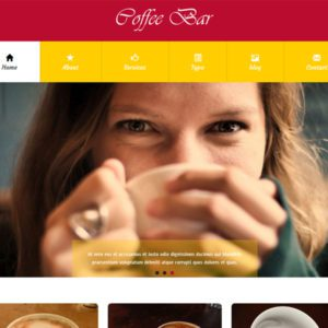 Coffee Bar Free Bootstrap Hotel Template