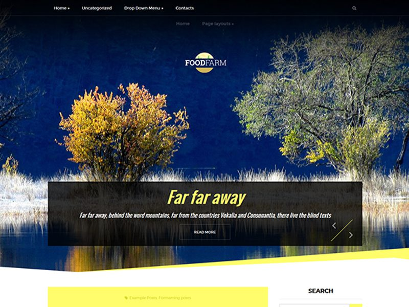 FoodFarm Free Farm WordPress Theme