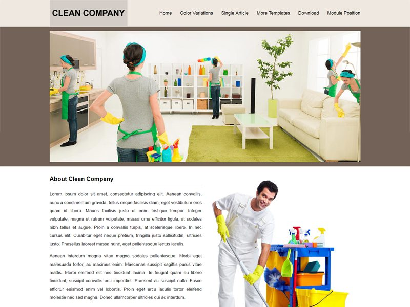 JSR Clean Company Free Joomla Business Template