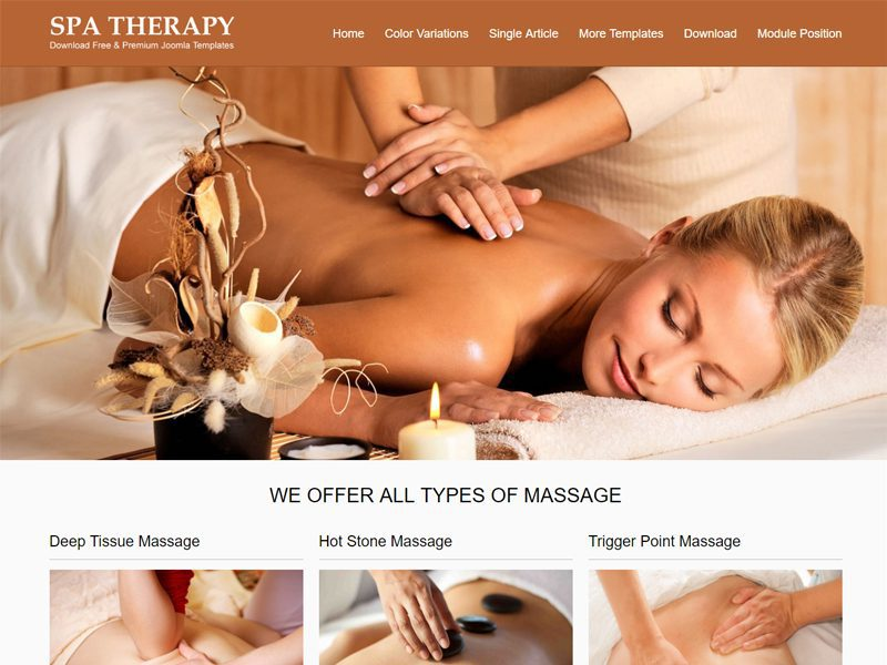 JSR Spa Therapy Joomla Spa Template