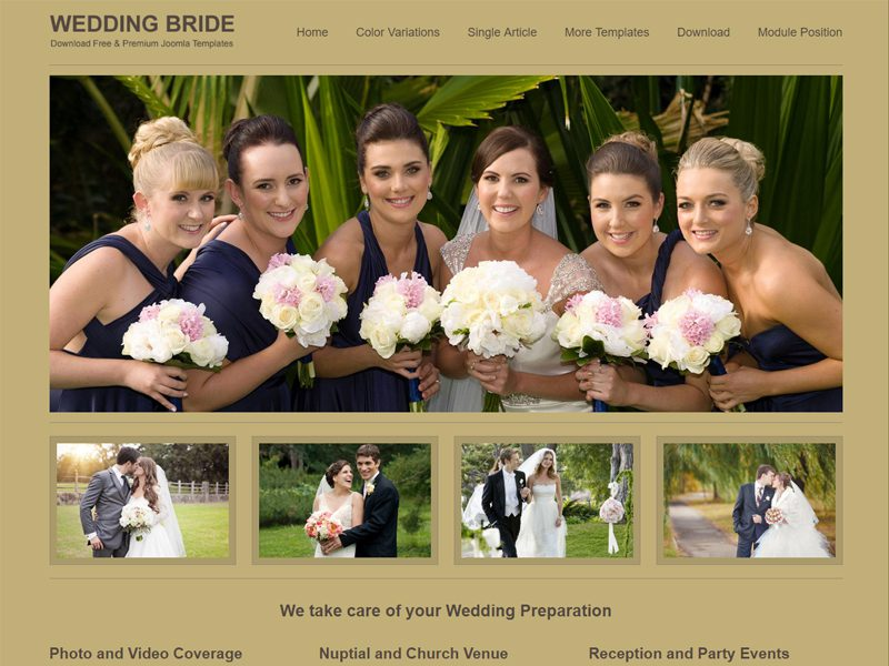JSR Wedding Bride Free Wedding Joomla Template