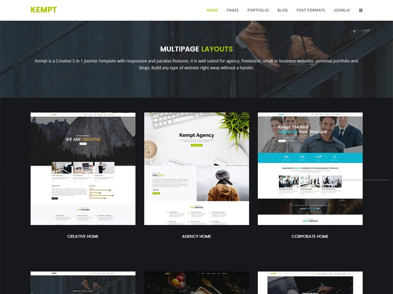 Kempt Free Joomla Business Template