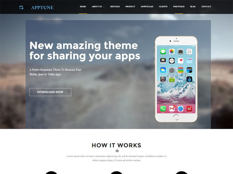 LT Apptune Free Mobile Apps WordPress Theme