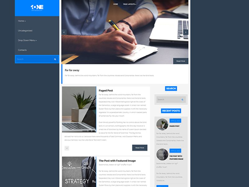 One Free WordPress Business Theme