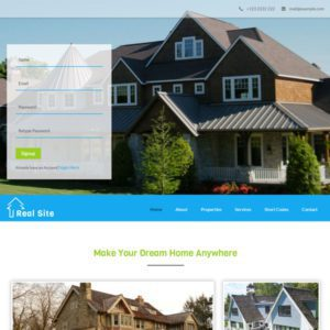 Real Site Free Bootstrap Real Estate Template