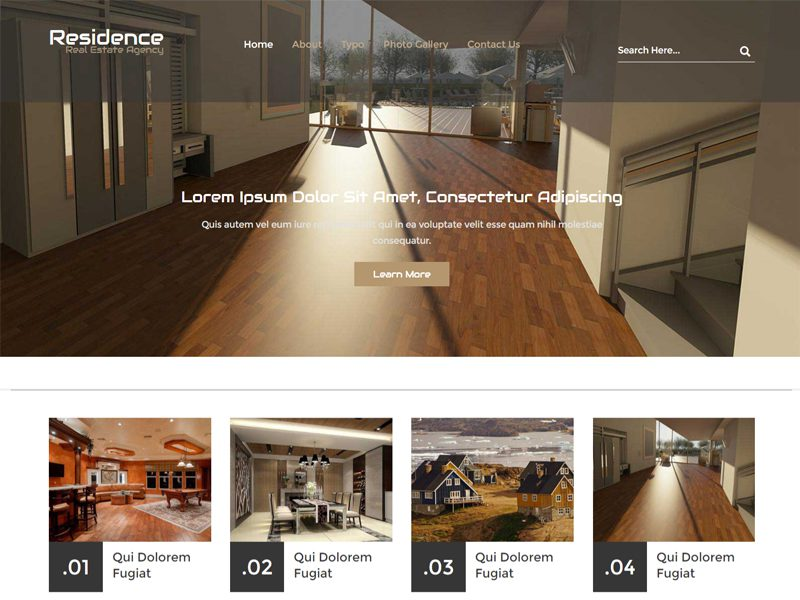 Residence Bootstrap Real Estate Template