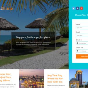 Royal Shine Bootstrap Hotel Template