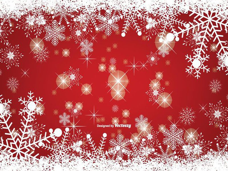 Snowy Christmas Free Vector Design