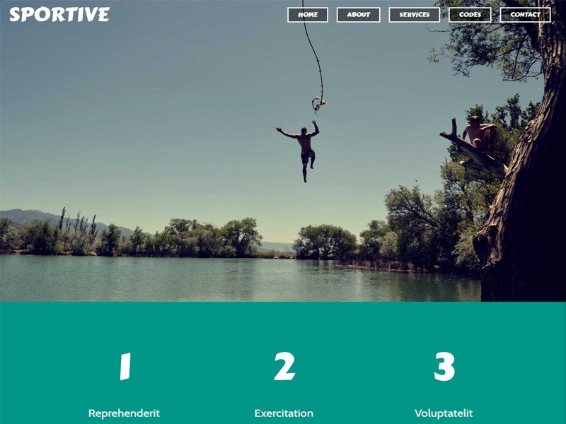 Sportive Bootstrap Sport Template