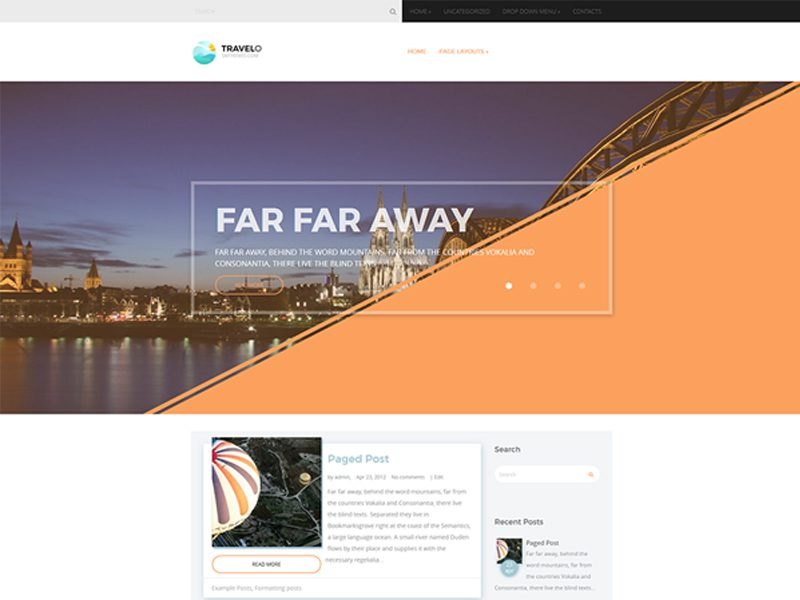 Travelo WordPress Travel Theme