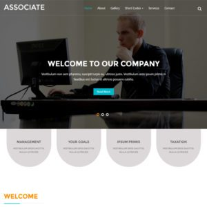 Associate Free Bootstrap Business Template
