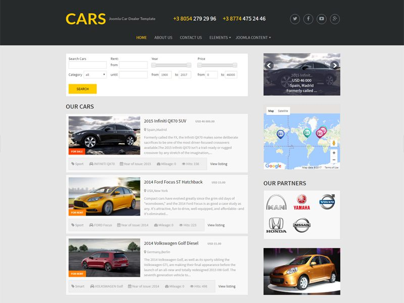 joomla empty template - cars free joomla cars template freemium download