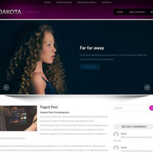 Dakota Free WordPress Blog Theme