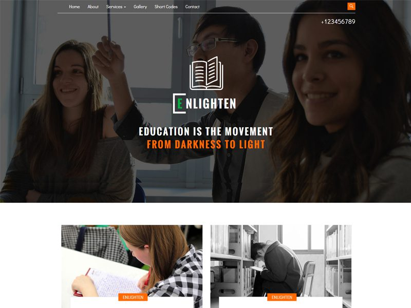 Enlighten Free Bootstrap Education Template
