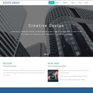 Estate Group Free Bootstrap Real Estate Template