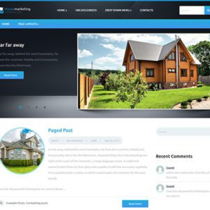 HouseMarketing Free WordPress Real Estate Theme