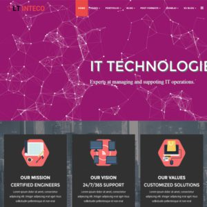 LT Inteco Free Joomla Technology Template