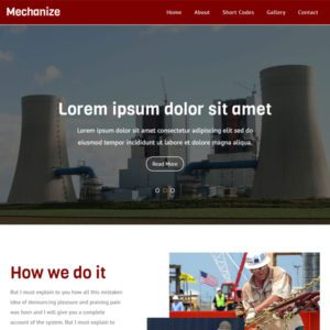Mechanize Free Bootstrap Industrial Template