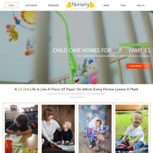 Nursery Free Bootstrap Education Template