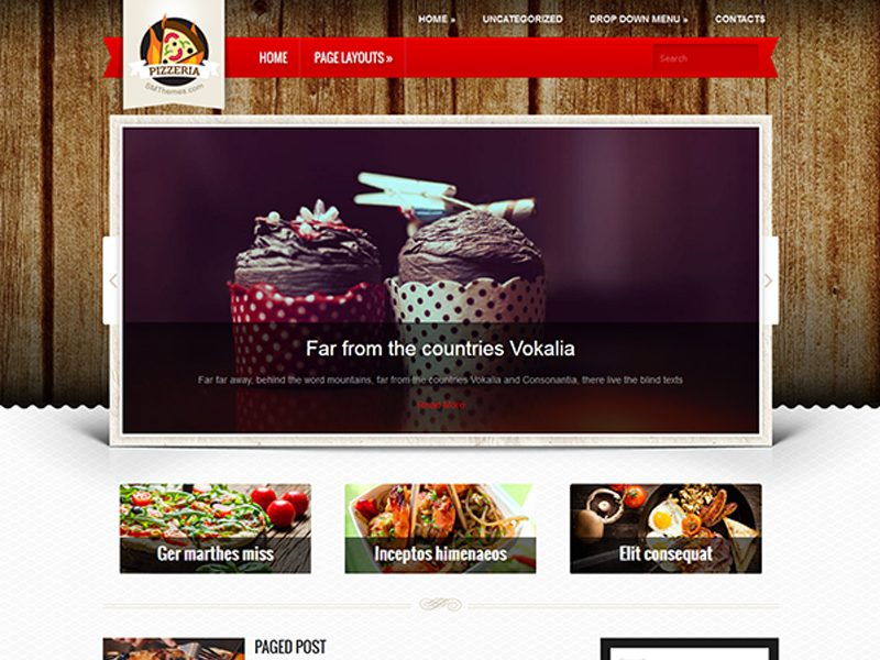 Pizzeria Free WordPress Bakery Theme