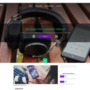 RushMore Free Music WordPress Theme